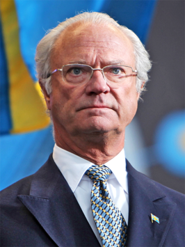 King Carl XVI Gustaf at National Day 2009 Cropped.png