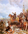 King John III Sobieski blessing Polish attack on Turks in Vienna 1683.PNG