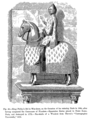 King Philip le Bel in War dress on the Occasion of his entering Paris in 1304 after having conquered the Communes of Flanders Equestrian Statue placed in Notre Dame Paris and destroyed in 1772.png