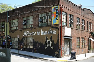Inman Park - Welcome Sign in Inman Park
