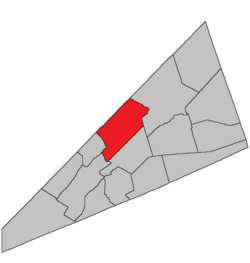 Location within Kings County, New Brunswick.