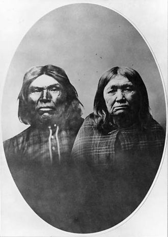 Klallam - Klallam chief Chits-a-man-han and his wife, ca. 1884