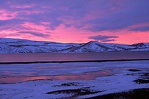 Sunrise at Kleifarvatn in Winter, Iceland