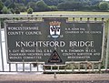 Knightsford Bridge Plaque - geograph.org.uk - 554531.jpg
