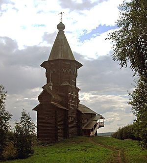 Lake Onega - Uspenskaya church in Kondopoga