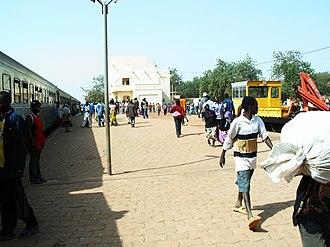 Rail transport in Burkina Faso - Train station in Koudougou, Burkina Faso.