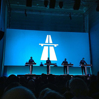 Kraftwerk - Kraftwerk performing in 2013.