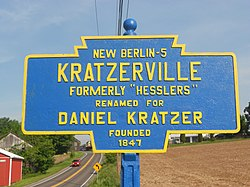 Keystone Marker for Kratzerville