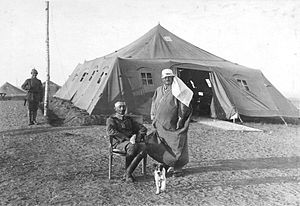 First Battle of Gaza - Kress Von Kressenstein and Colonel Gott at Huj in 1916