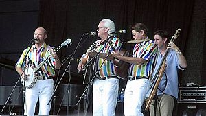 The Kingston Trio - The Kingston Trio in 2003: George Grove, Bob Shane, Bobby Haworth (bassist Paul Gabrielson).