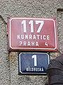 Kunratice, Ploučnická 1, domovní čísla s názvem Běloruská.jpg
