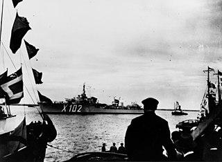 French destroyer <i>LAudacieux</i> destroyer