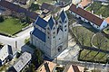 Lébény, Szent Jakab templom légi fotón.jpg