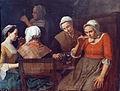 Léonard Defrance, Femmes buvant le café (1763), dessus de porte Musée d'Ansembourg, Liège.jpg