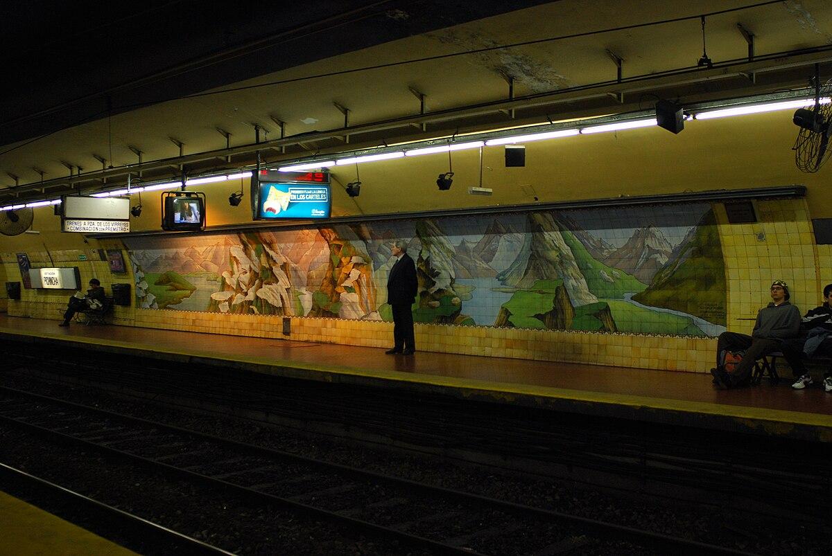 Pichincha subte de buenos aires wikipedia la for Mural metro u de chile