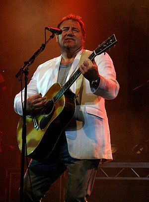 Greg Lake - Lake, performing at Llandudno, Wales in 2005