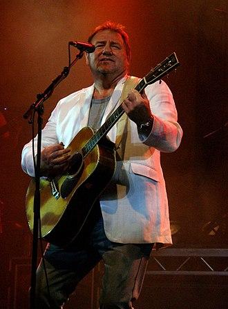 Greg Lake - Lake, performing at Llandudno, Wales in 2005