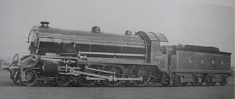 LSWR H15 class - Official 1914 LSWR works photograph of Urie H15 class mixed-traffic locomotive No. 483 at Eastleigh. Smoke deflectors were fitted during the early 1930s .