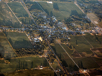 La Paz, Indiana - La Paz from the air, looking southeast.