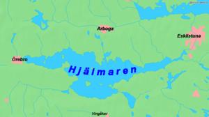 Karte des Hjälmaren