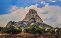 La Peña de Bernal (Bernal's Boulder or Bernal Peak by Lizardi Saucedo).png