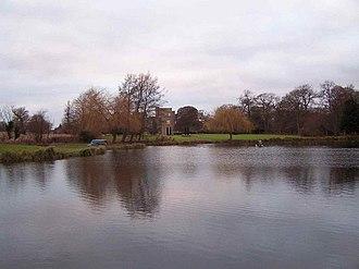St Hugh's College, Tollerton - Image: Lake, Tollerton Hall geograph.org.uk 1095969