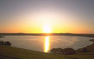 Camperdown, Victoria - Lake Bullen-Merri at Sunset.