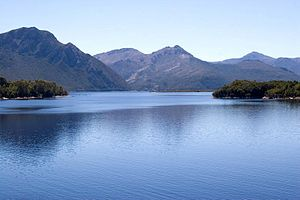 Mount Owen (Tasmania) - Image: Lake Burbury