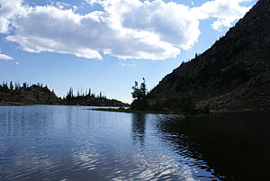 Mount Zirkel Wilderness - Lake of the Crags in Mt. Zirkel Wilderness