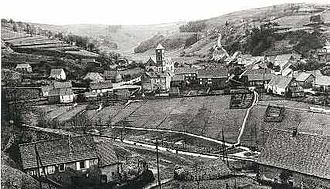 Lambach, Moselle - The church and surroundings in Lambach