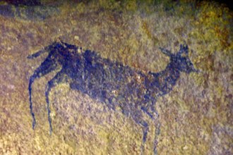 Waterberg Biosphere - Bushman Stone Age rock painting, Lapalala Wilderness, Waterberg, South Africa.