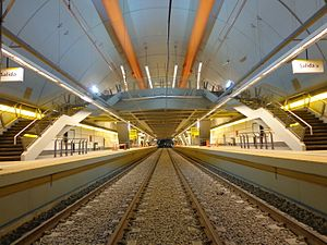 Concrete sleeper - Bi-block sleepers on Line H of the Buenos Aires Underground.