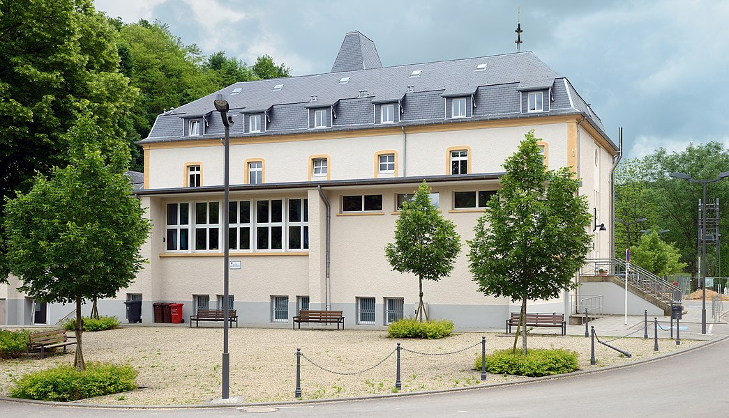 Nature School (former elementary school) in Lasauvage, Luxembourg.