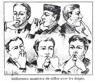Whistling - Various finger techniques (Le Monde illustré  14 January 1893)
