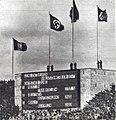 Le stéphanois Louis Hostin, champion olympique d'haltherophilie en 1936 (Berlin, tableau d'affichage du stade olympique).jpg