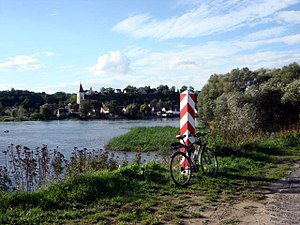 Lebus - View across the Oder river