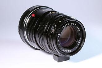 Leica CL - Leitz Elmar-C 90mm f:4 tele lens