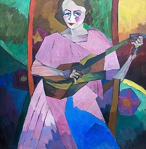 Jack of Diamonds (artists) - Aristarkh Lentulov Woman with a Guitar, 1913