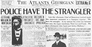 The Atlanta Georgian - 1913 front page