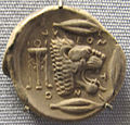 Leontinoi, tetradracma, 480 ac. ca leone.JPG