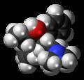 Levo-Betamethadol molecule spacefill.png