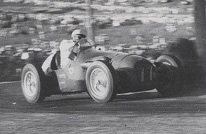 1954 Australian Grand Prix - Lex Davison (HWM Jaguar) contesting the 1954 Australian Grand Prix