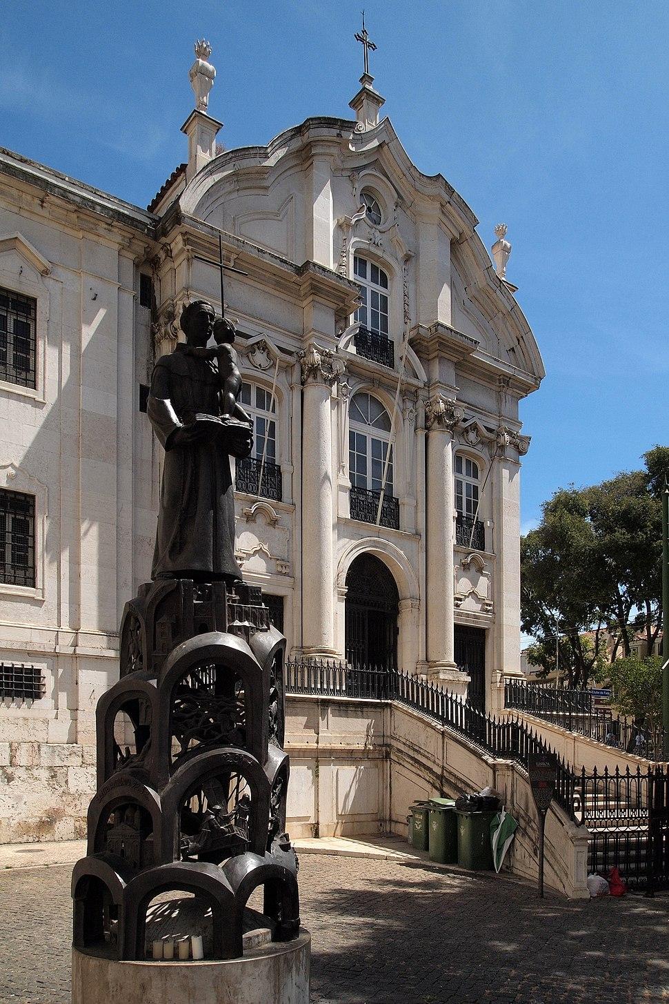Lisboa, Igreja de Santo António de Lisboa, fachada ocidental (1)