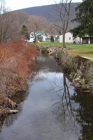 Little Mahanoy Creek - Little Mahanoy Creek looking upstream in its lower reaches in Gordon