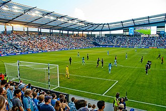 Kansas City, Kansas - Kansas City's Children's Mercy Park hosts Sporting Kansas City of Major League Soccer.