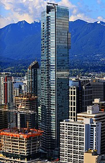 skyscraper in Downtown Vancouver, British Columbia, Canada