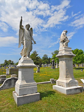 Congressional Cemetery - Image: Liz and Mary Hall CC