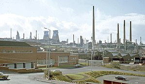 Llandarcy - The former Llandarcy Oil Refinery in 1973