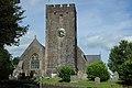 Llandeilo Parish Church, St Teilo's. Tower, south face.jpg