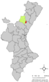 Localització de Fanzara respecte del País Valencià.png
